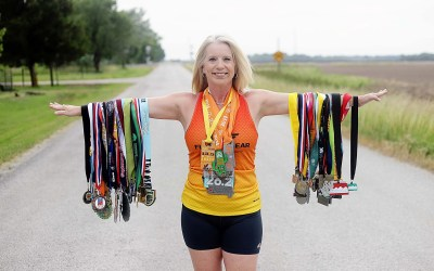WHY I RUN  Julie Reams: Life Begins  at the End of Your Comfort Zone