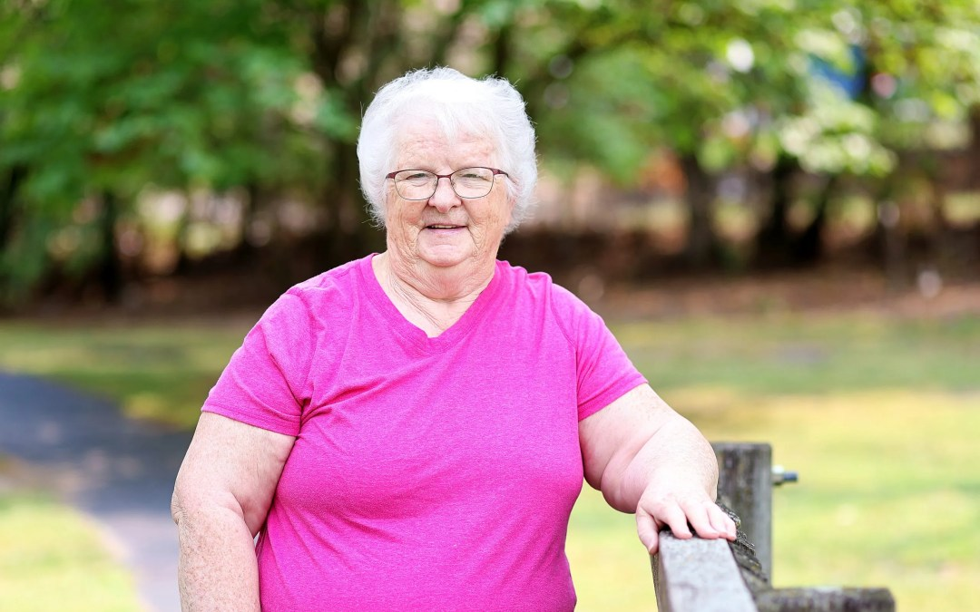 'God Provided Everything'  Cancer Fighter volunteer Cathie Burrows courageously beat breast cancer and endometrial cancer at the same time