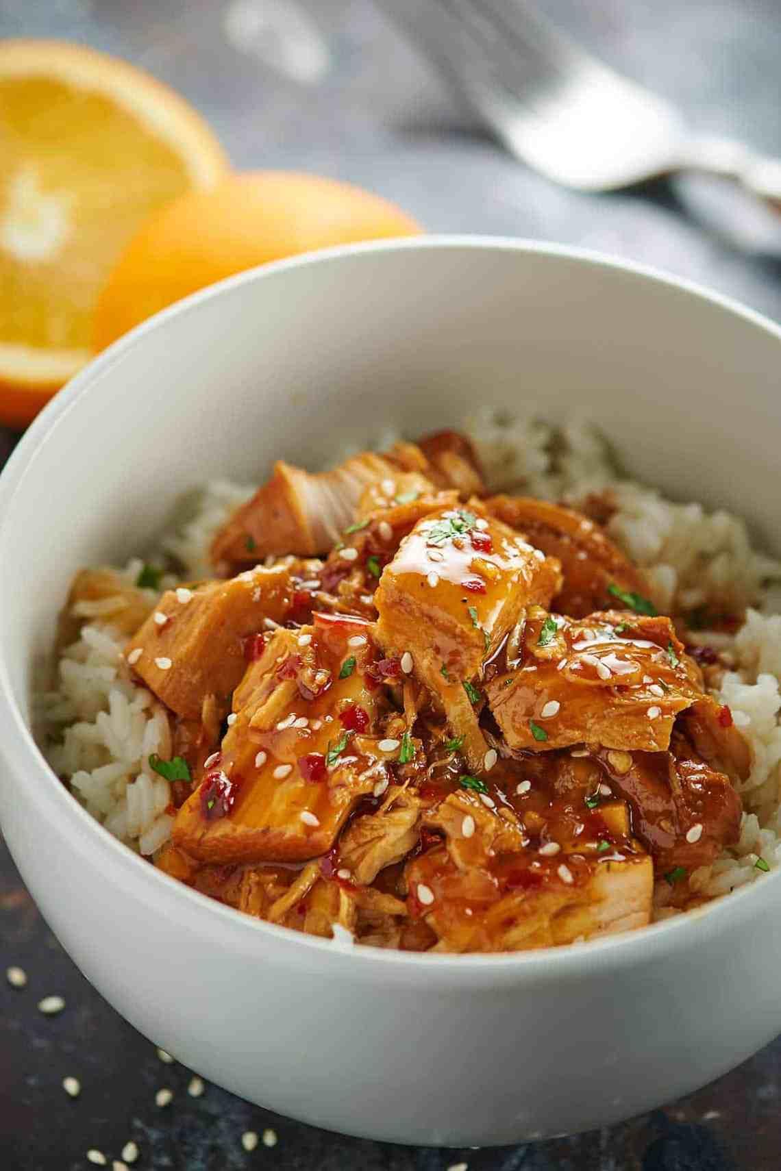 Crockpot Orange Chicken Recipe - Lightened Up, Healthy ...