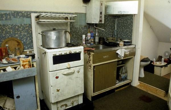 Kitchen of Dennis Nilsen in Black Museum