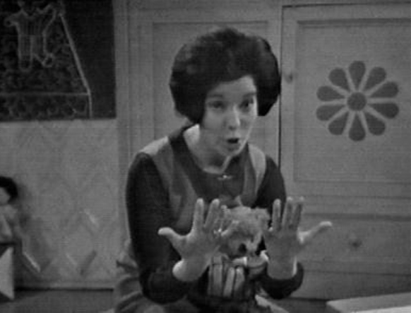 PICTURED: Carol Chell (making her Play School debut, February 1966). SUPPLIED BY: Paul R. Jackson. COPYRIGHT: BBC.