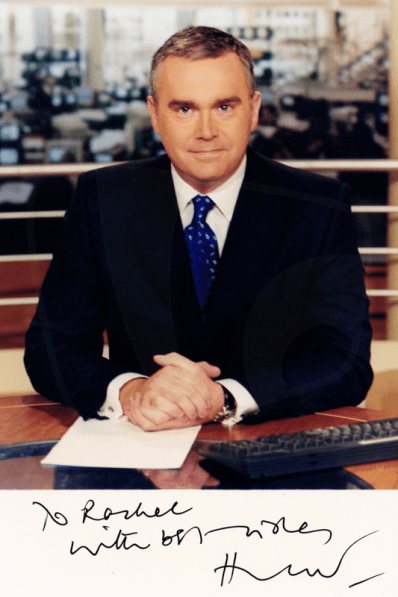 PICTURED: Huw Edwards. SUPPLIED BY: Paul R. Jackson. COPYRIGHT: BBC.