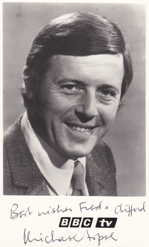 PICTURED: Michael Aspel (1970). SUPPLIED BY: Paul R. Jackson. COPYRIGHT: BBC.