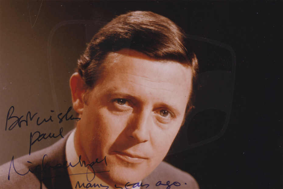 PICTURED: Michael Aspel. SUPPLIED BY: Paul R. Jackson. COPYRIGHT: BBC.