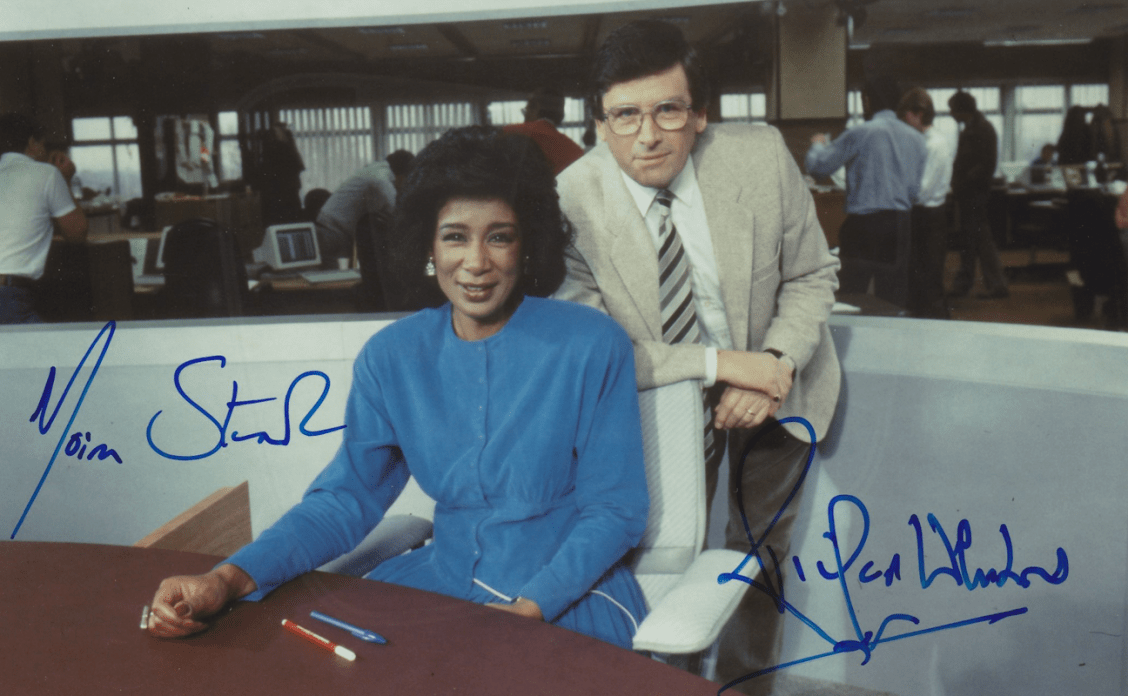 PICTURED: Moira Stuart and Richard Whitmore. SUPPLIED BY: Paul R. Jackson. COPYRIGHT: BBC.