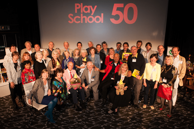 PICTURED: Play School 50th anniversary reunion (Riverside Studios, May 2014). SUPPLIED BY: Paul R. Jackson. COPYRIGHT: Paul R. Jackson.