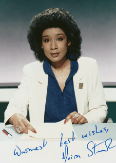 PICTURED: Moira Stuart. SUPPLIED BY: Paul R. Jackson. COPYRIGHT: BBC.