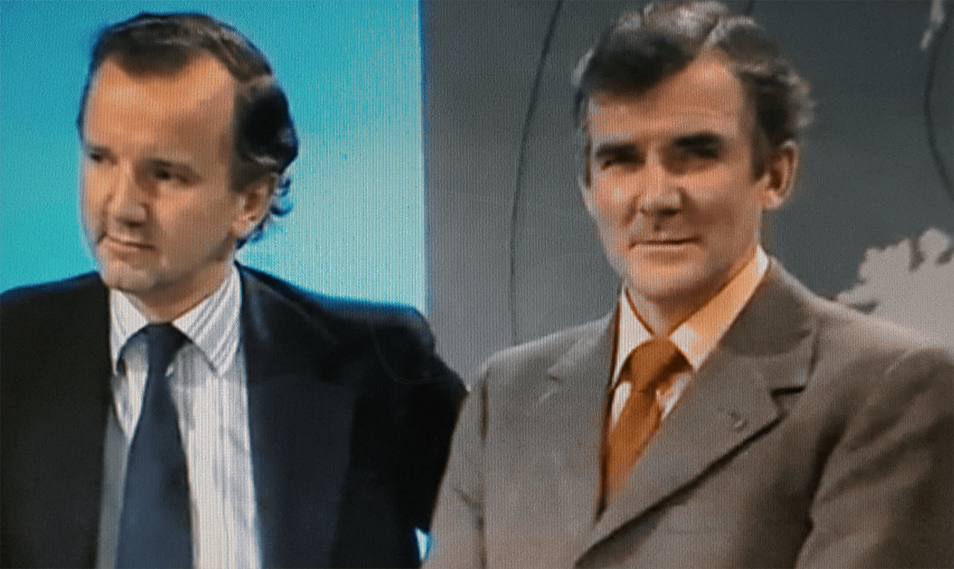 PICTURED: Peter Walker amd Don Maunder (1979).