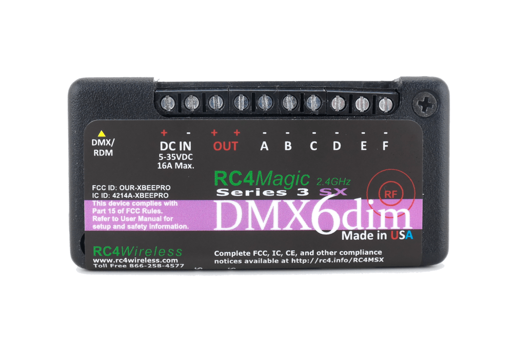 medium resolution of debuting at ldi this year is the rc4 wireless 6 channel dimmer the only 6 channel wireless led product on the ldi show floor