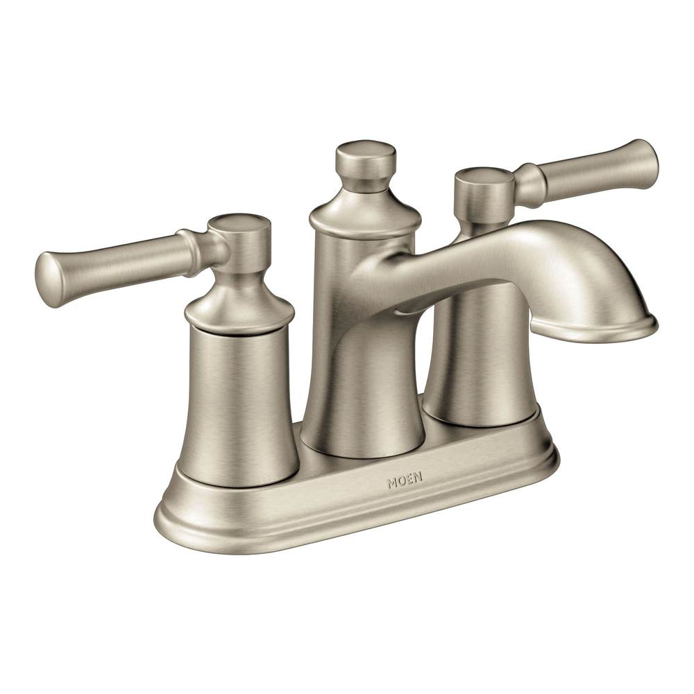 brushed nickel two handle bathroom faucet