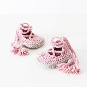 Patron de crochet zapatos Noa