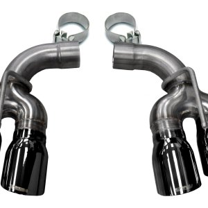 Two Twin 4.0 Inch Black Tips Clamps Included Dual Rear Exit For Corsa Camaro SS/ZL1 Exhaust Only Stainless Steel Corsa Performance