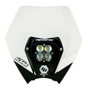 KTM Headlight Kit AC 08-13 w/ Headlight Shell White Squadron Sport Baja Designs