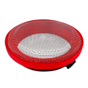 Turbo Screen 4.0 Inch Red Stainless Steel Mesh W/Stainless Steel Clamp S&B