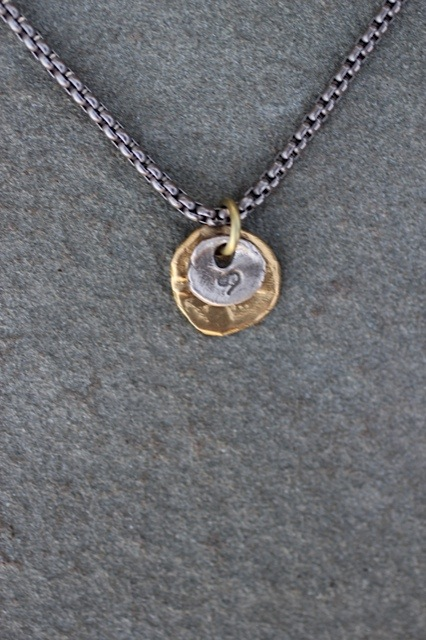 Astrology necklaces Jewelry made from recycled brass and sterling silver