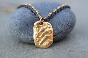 Girl Power pendant jewelry made from recycled sterling silver and 18k gold