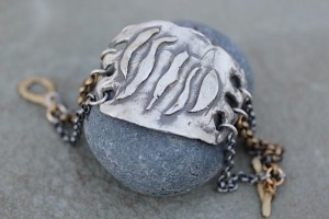Make Waves cuff bracelet Jewelry made from recycled brass and sterling silver