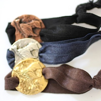 Phoenix hair ties! Jewelry made from recycled metals