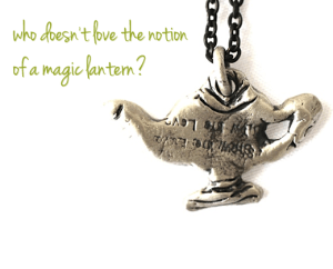 Magic Lantern necklace Jewelry made from recycled brass or sterling silver
