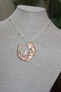 Mermaid necklace Jewelry made from recycled sterling silver with ethically sourced diamonds
