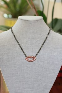 I Speak Up Necklace - Jewelry made from recycled brass and rose gold