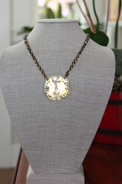 jewelry made from recycled brass and rose gold