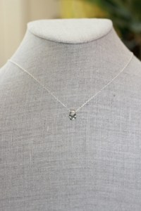 Jewelry made from recycled silver with 9 black ethically sourced diamonds