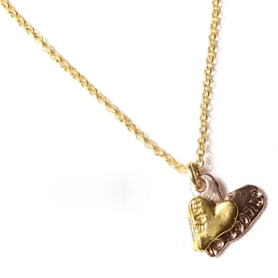 love is showing your heart gold