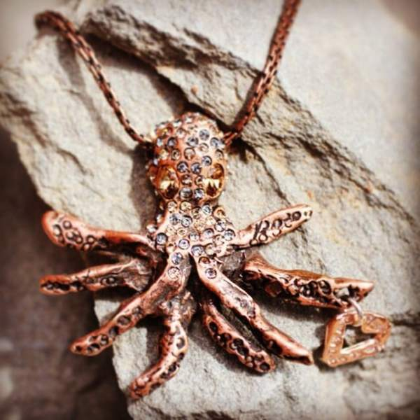 The perfect statement piece and one of our customer favorites the Octopus Necklace is on sale for $42 dollars! He even reminds you to showtheLOVE with the heart he holds. #showthelovejewelry #octopus #heart