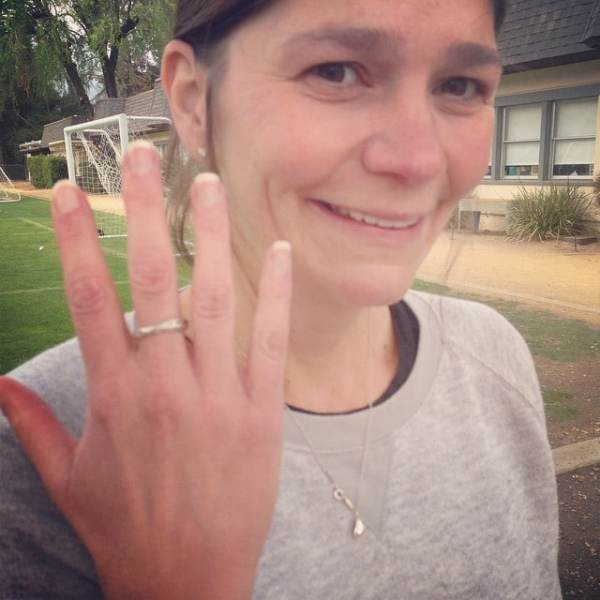 The beautiful Cathy Brewer showing off her #shebelievedshecould ring that she hasn't taken off since she bought it! Gotta love #inspirationaljewelry ! #showthelovejewelry