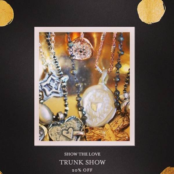 If you're in the area stop by our trunk show tomorrow or Wednesday from 9-2 at our studio for tea, treats, and shopping! Maybe even get a jump start on gifts for for the holidays! #showthelovejewelry #shop #gifts #holidays