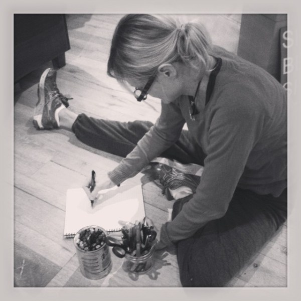 Where it starts! Jen #sketching up some new idea's today in the #showthelovejewelry office!