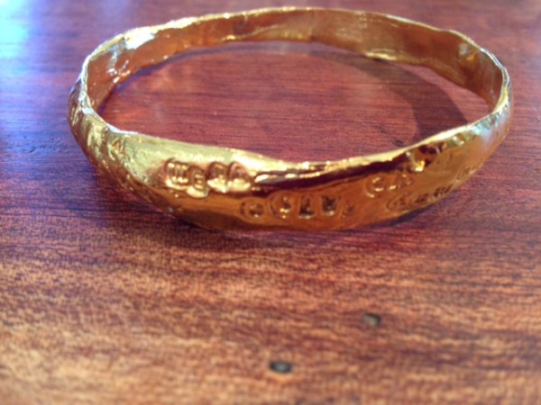 strong women bangle show the love