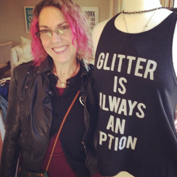 Ariane rocking our 'it's only with the heart' necklace! #showthelovejewelry #inspirationaljewelry #inspiration #glitter