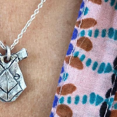 rhino totem necklace
