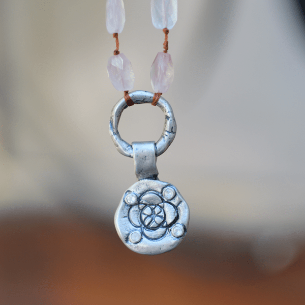 Flower of The Universe Rose Quartz Necklace