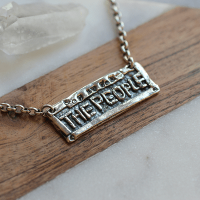 The People Hip Hop Necklace Silver