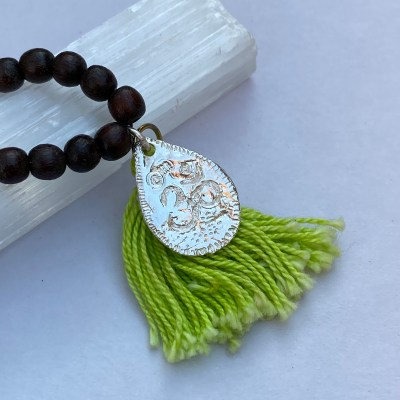 Om Tassle Bead Necklace