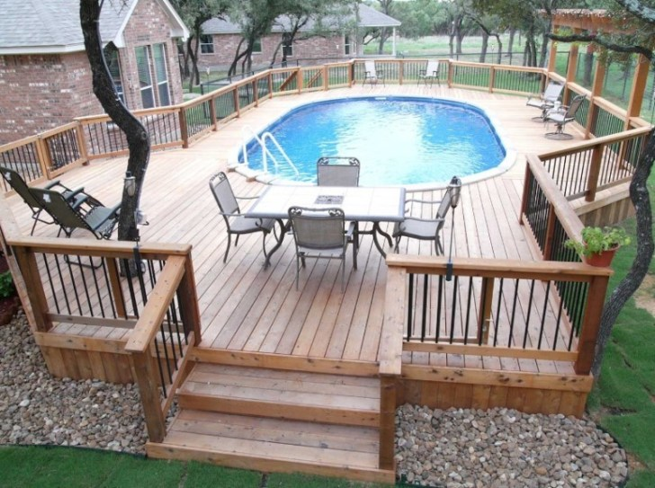amazing above ground pools decks idea