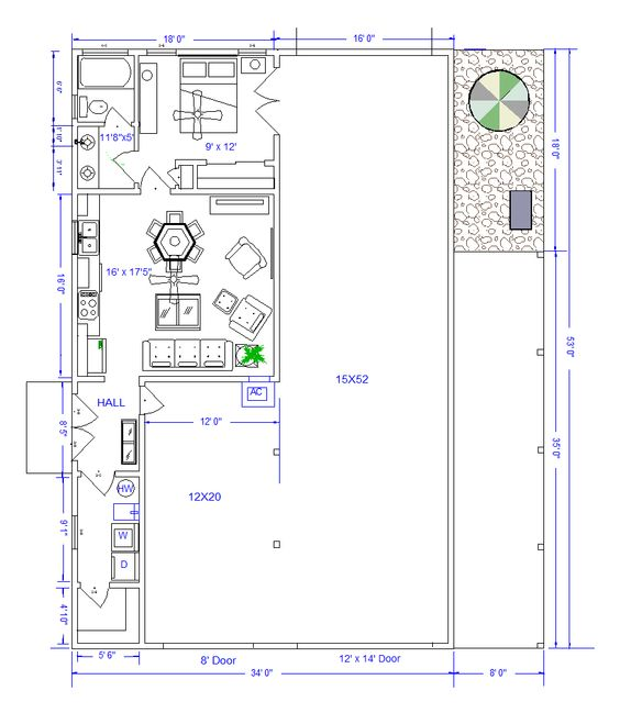Shop With Living Quarters Floor Plan