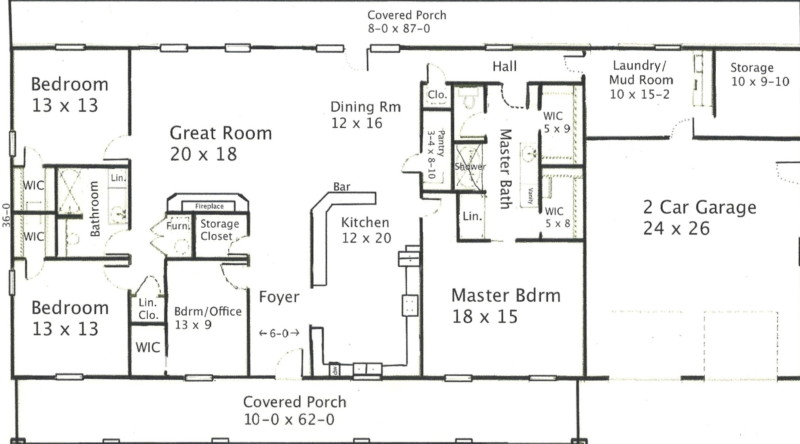 30x40 metal building floor plans for 30x40 floor plan