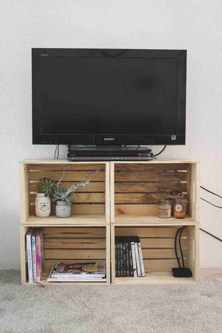 50 Creative Diy Tv Stand Ideas For Your Room Interior Diy  # Meuble Tv Separation