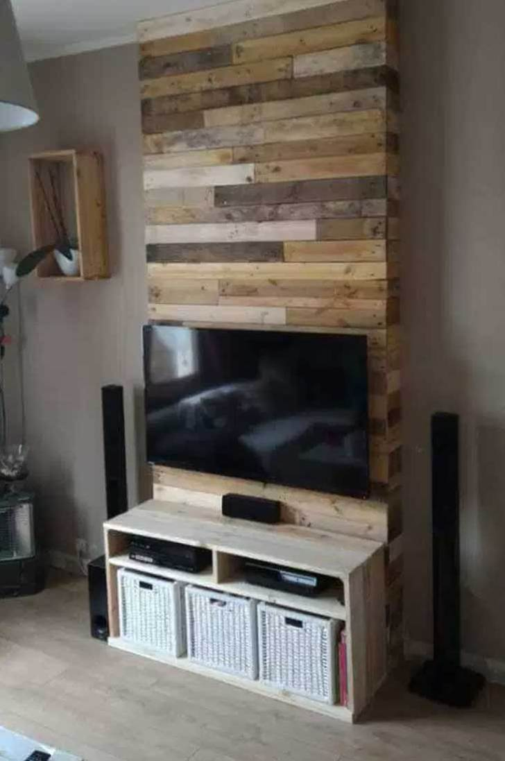 50 Creative Diy Tv Stand Ideas For Your Room Interior Diy  # Meuble Tv Wooden Art