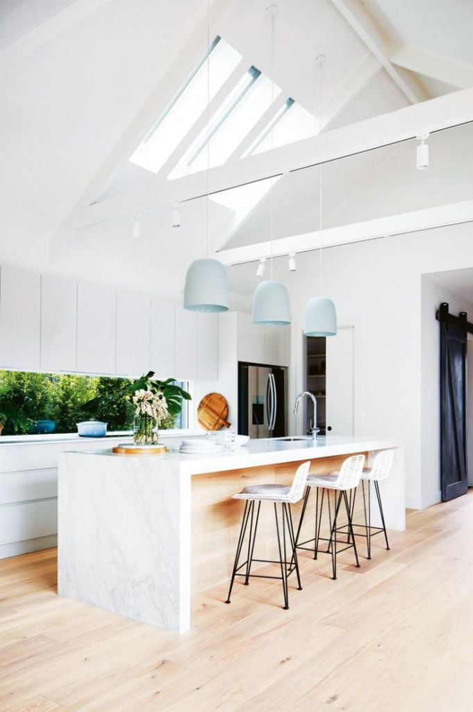 Kitchen skylight ceiling