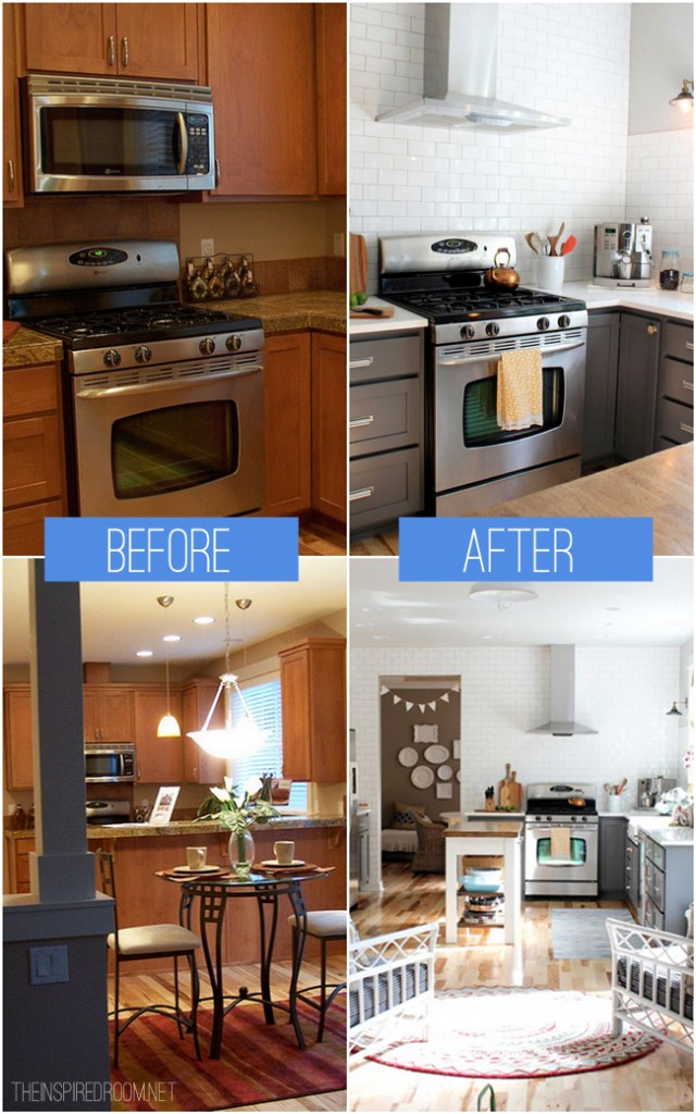 20+ Small Kitchen Renovations Before and After - DIY ...