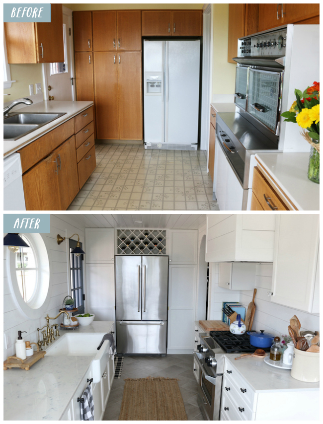 20+ Small Kitchen Renovations Before and After - DIY ... on Small Kitchen Renovation  id=42882
