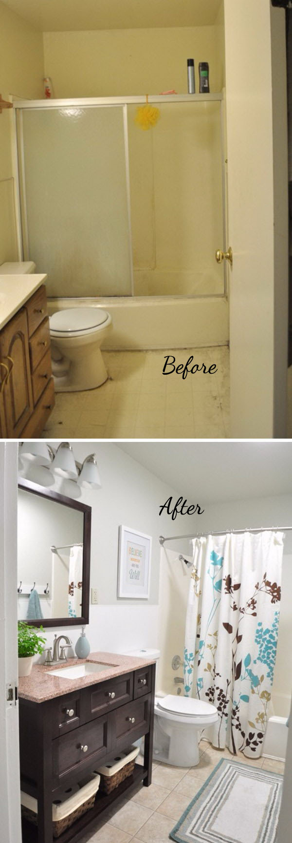 33 inspirational small bathroom remodel before and after - diy design & decor