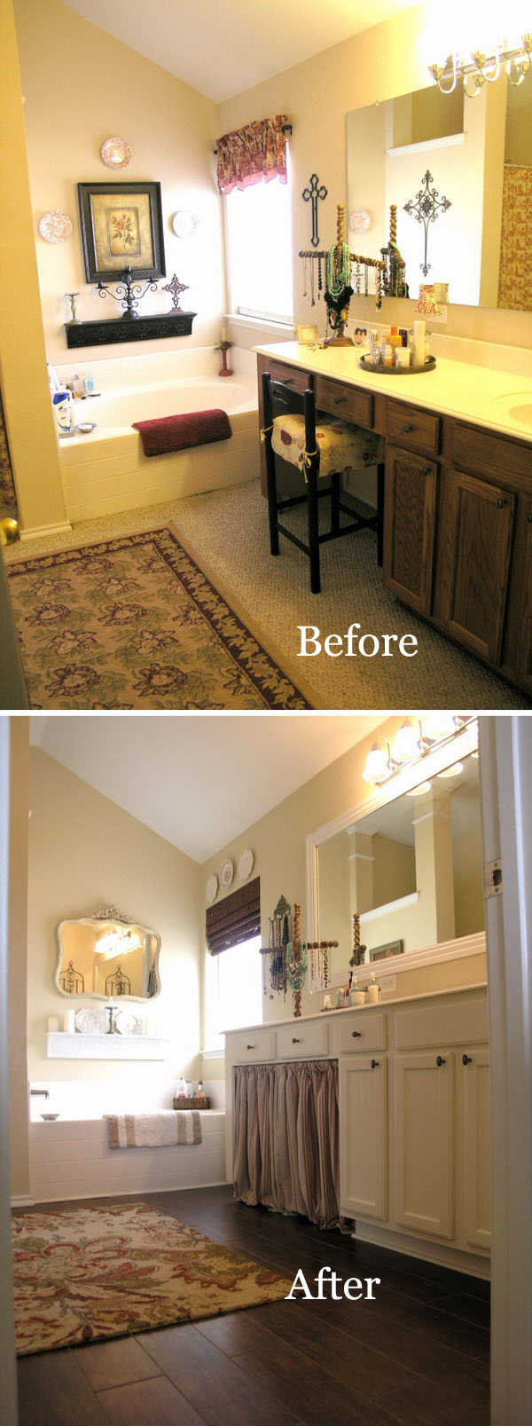 From Dark and Dirty to Bright and Clean Small Bathroom Transformation Before After