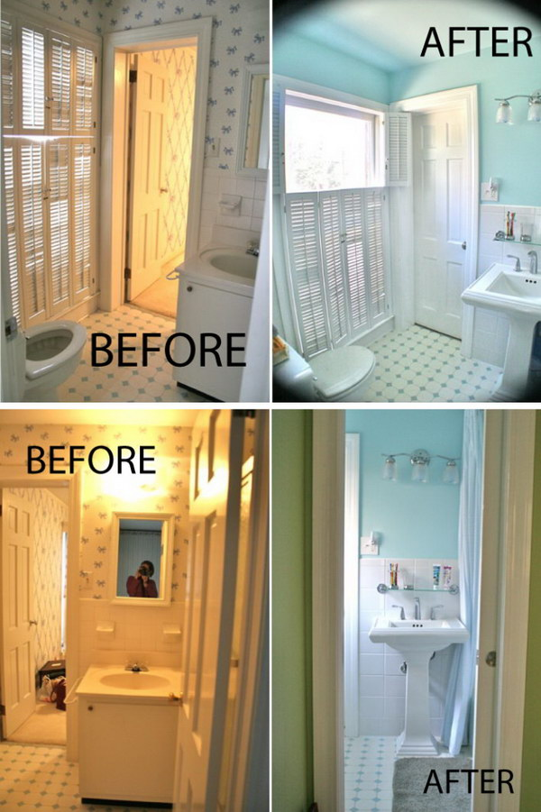 Jack and Jill Small Bathroom Renovation Before After