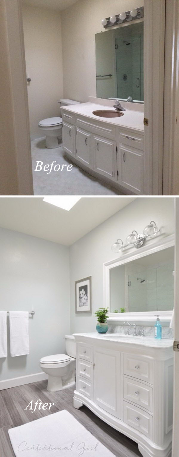 Modern Small Bathroom Remodel Before After